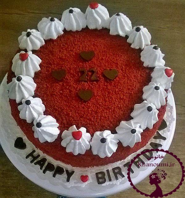 کیک رد ولوت
