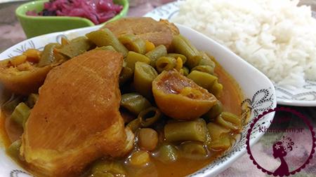 خورش-لوبیا-سبز-با-مرغ